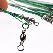 Sougayilang 100pcs 5Colors Steel Fishing Rope 13cm 15cm 18cm 23cm 25cm the Leash Swivel Tools Lead Trace Fish Line Fishing Line