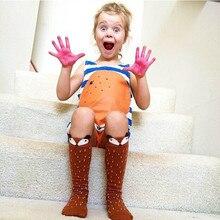 2017 Новорожденного Малыша колено, носок Мальчик bebe Девушка фокс хлопчатобумажные Носки Милый Мультфильм Животных гетры Для новорожденных инфантильный