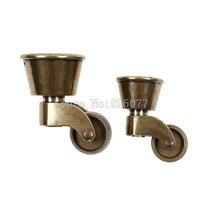 4PCS Retro European Furniture Legs Antique Bronze Pulley Sofa Universal Nylon Wheel Hardware KF1014