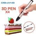 Dewang más nuevo 4x usb pen 3d kids drawing pen mejor Impresora 3D Pluma Regalo de Navidad de Cumpleaños del Niño 100 M 200 M ABS filamento