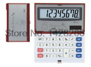 One Piece Deli 1124 Portable Calculator Deli 8 Digits Large Screen Folding