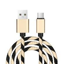 100% новый бренд и высокое качество 1 м нейлон сильный плетеная веревка USB-C Тип-C 3,1 синхронизации данных Зарядное устройство зарядный кабель провод для Samsung