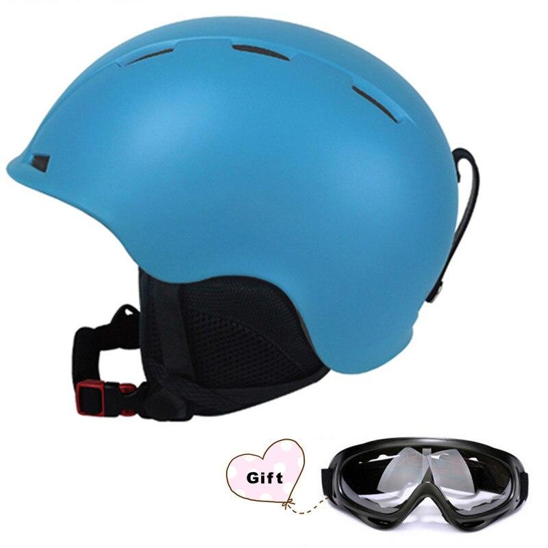 Дети половина-Крытый горнолыжный шлем интегрального-формованные Открытый Спортивные очки Лыжный Спорт Шлем катание сноуборд многоцветный...