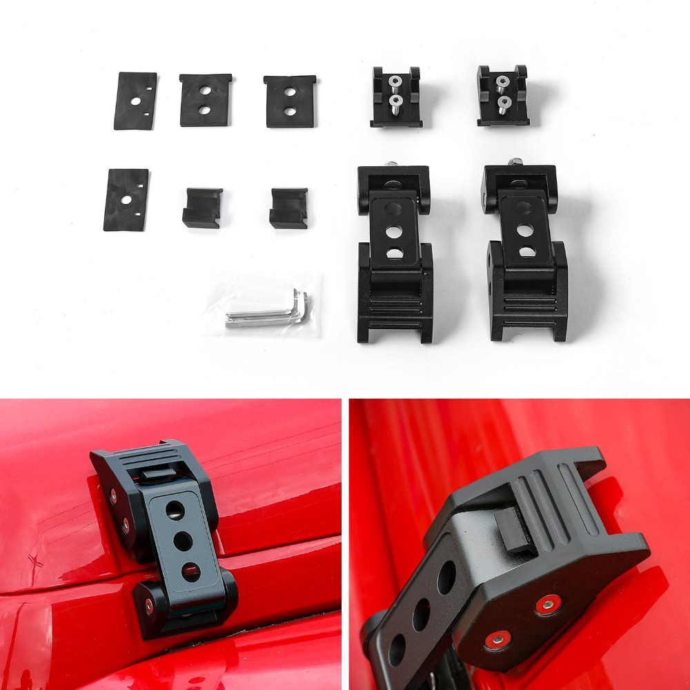 Jeep Wrangler Accessories 2017 >> Us 13 76 14 Off For Jeep Wrangler Accessories Black Hood Lock Assembly Locking Hood Catch Latches For 2007 2017 Jeep Wrangler Jk Unlimited In