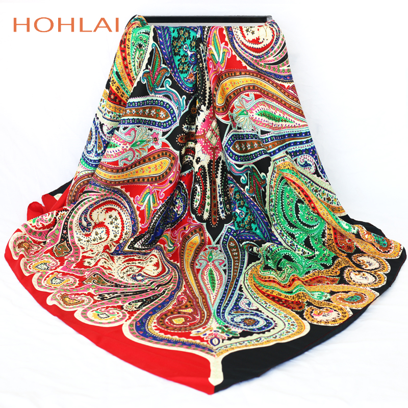 2019 Luxury Brand Scarf Bandana Female Printed Large Square Winter Wrap Scarf Warm Shawls Stoles Scarves For Women 120*120cm