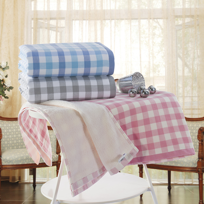 Plaid Patterned Hotel Travel Golf Beach Bath Towels Large