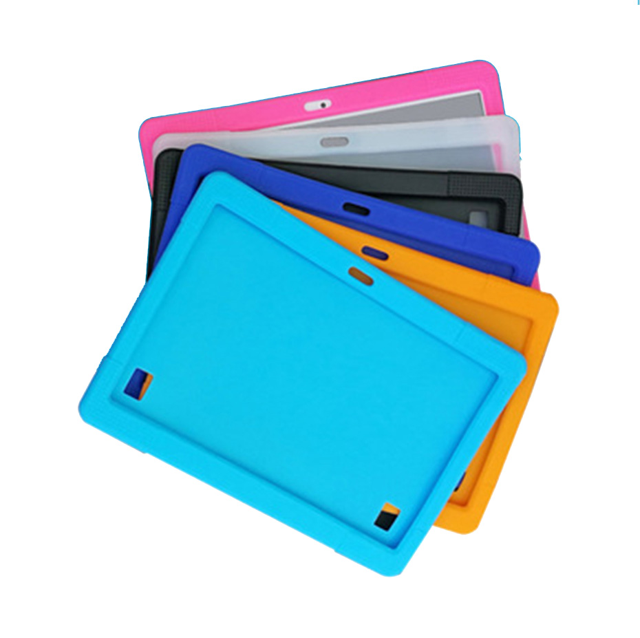 10.1'' Universal Soft Silicone Case For 10 10.1 Inch Android Tablet PC Shockproof Solid Color Back Cover Protective Shell