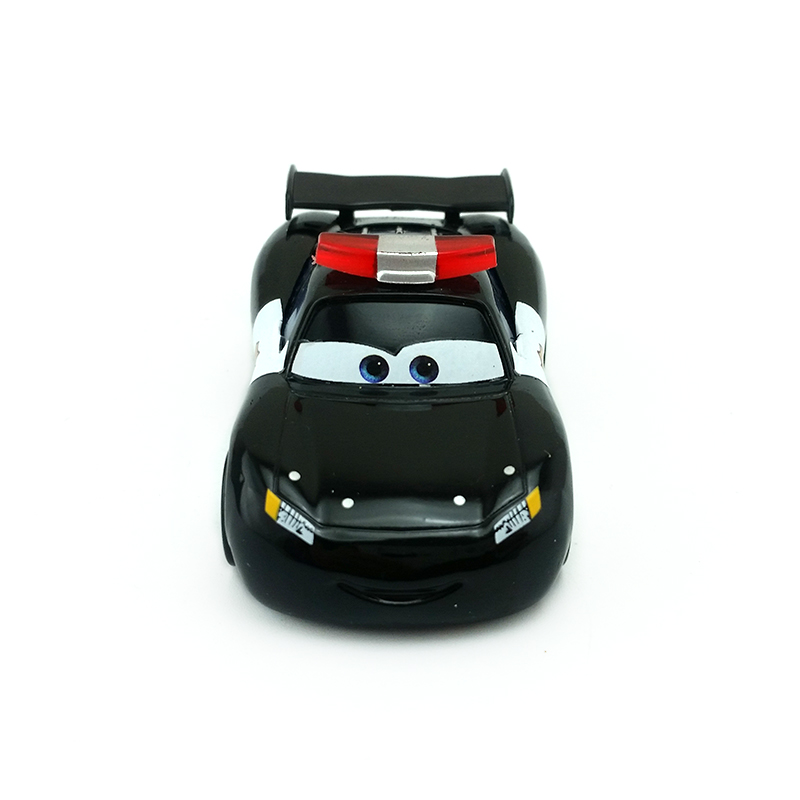 Disney 7cm Alloy Car Police McQueen Black Racing Car Story Cars2 Model Toys for Kids Gift Christmas Gifts