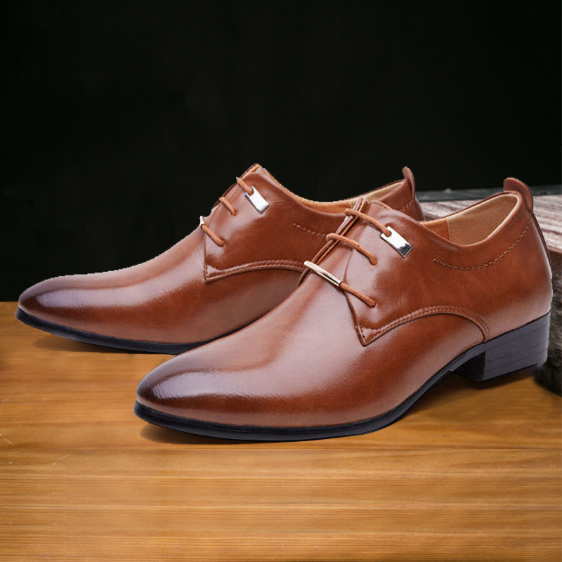 De En 2018 38 48 Taille Classique Véritable Lace Plat Noir Italien Cuir Robe Oxford marron Formelle Chaussures Plus Homme Mode Up Hommes 5wrq0HUrx