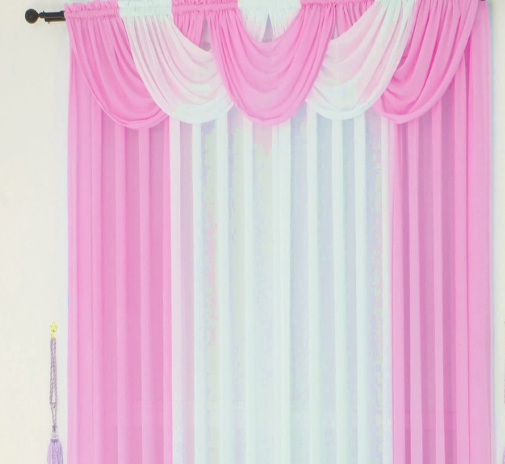curtains for living room kitchen brand modern sheer tulle drape panel cortinas luxury waterfall valance voile window treatment