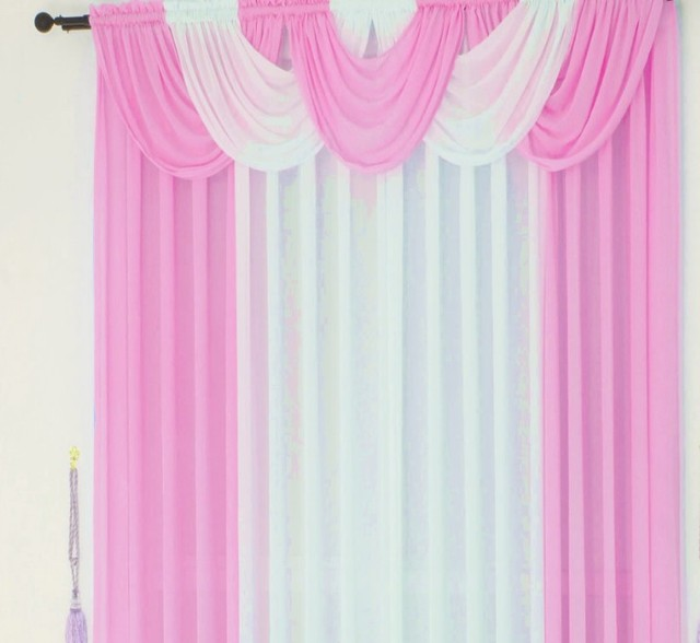 curtains for living room kitchen brand modern sheer tulle drape ...