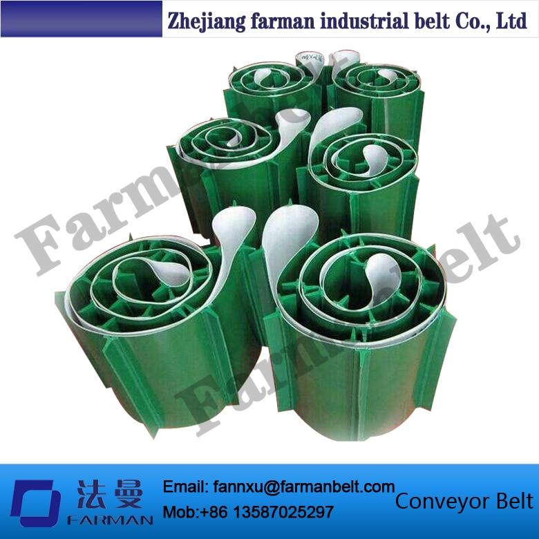 Oil Resistant PVC Green Conveyor Belt with Baffle Plate цена