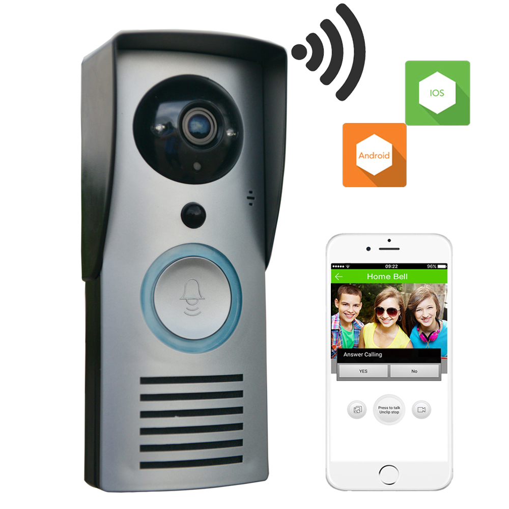CUSAM Video Intercom Doorbell Door Phone Wireless WIFI HD Camera 720P Motion Sensor Unlock Night Vision