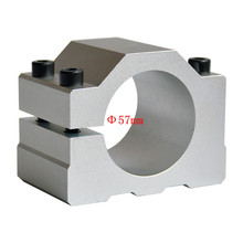 1pcs CNC spindle clamp aluminum motor bracket 52mm 57mm 65mm holder high quality 1pcs motor mount inner diameter 57mm spindle motor fitted seat and spindle motor clamp screw cnc parts