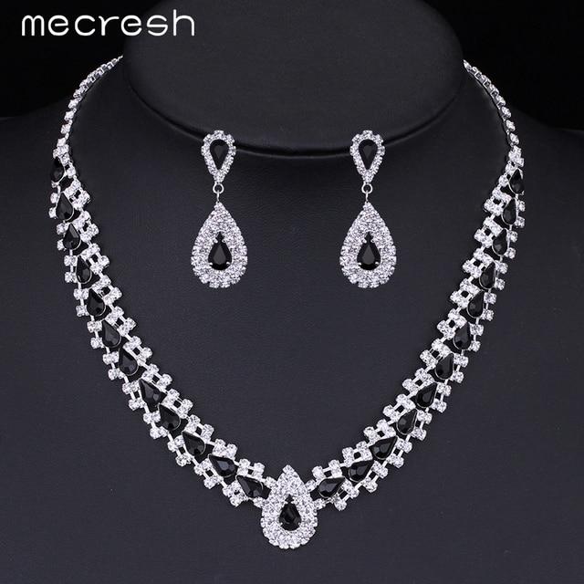 Crystal Bridal Jewellery Set Choker Necklace & Earrings