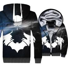 2018 Hip Hop superhero coat wool liner style hooded 3D print sweatshirts sportswear clothes batman new arrival Men thick jackets casual thick wool liner hip hop jackets men punk fashion coats long sleeve hooded clothes the superhero 3d print sweatshirt 2019