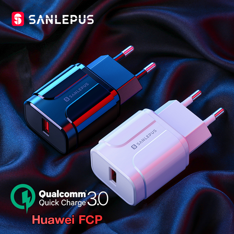 SANLEPUS 18W USB Charger Quick Charge 3.0 Fast Wall Mobile Phone Charger QC3.0 For iPhone x 8 7 iPad Samsung s9 s8 Xiaomi Huawei