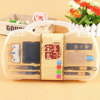 Chinese Traditional Brush Ink Box Suit Learning Scholar S Four Jewels Stationery Gift Set