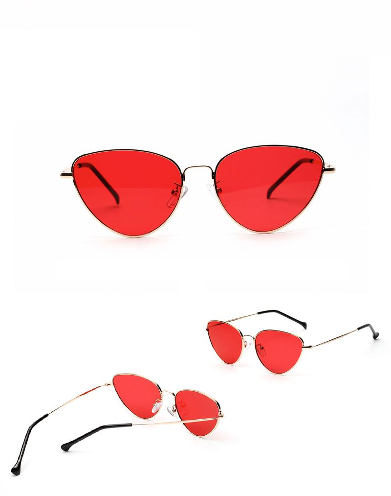 66b5bc3b241 Retro Cat Eye Sunglasses Women Yellow Red Lens Sun Glasses Fashion ...