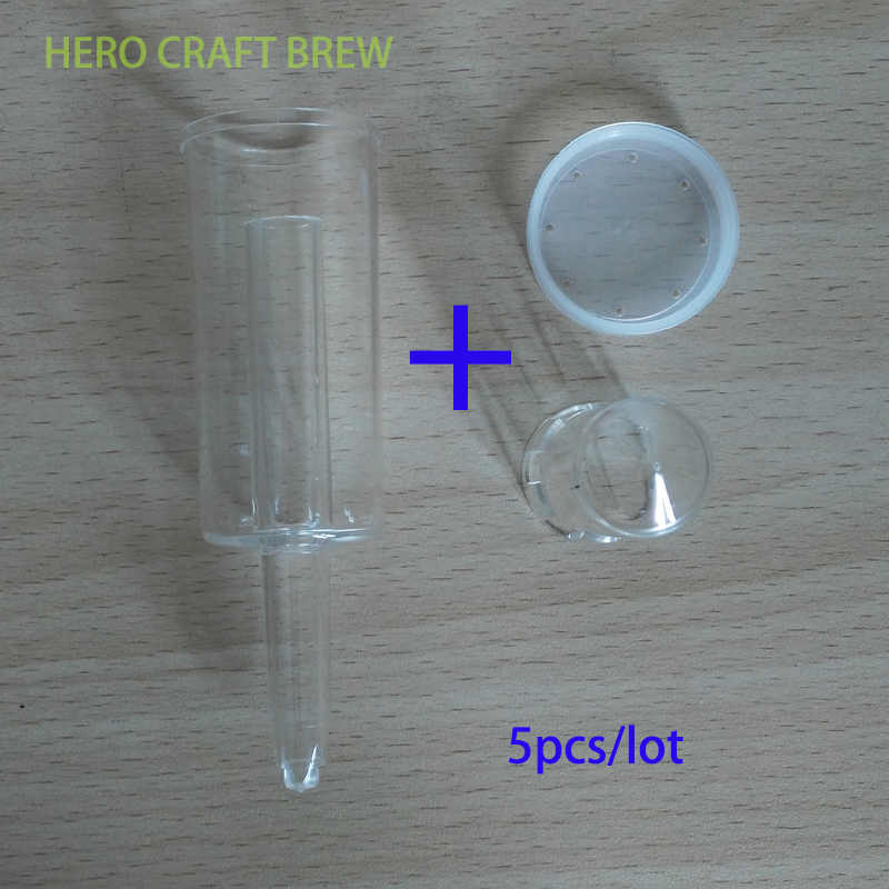 3-1 Beer Brewing Air lock With High Quality Cap Home Brew Ferment