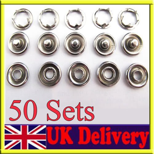 Automobiles & Motorcycles Atv,rv,boat & Other Vehicle Metal 15mm/ 5/8 Inch Snap Fastener Button Sockets Screw Studs Kit For Boat Cover