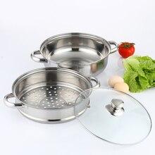 Многофункциональная Пароварка из нержавеющей стали, двухслойная пароварка, портативный кухонный инструмент, не сковорода, инструмент для приготовления пищи, кастрюля для супа