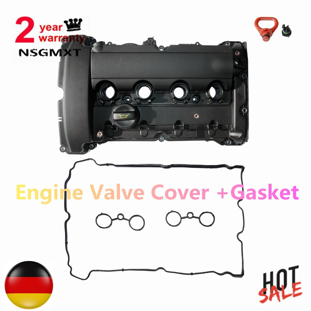 Engine Valve Cover +Gasket for BMW Mini Cooper Turbo JCW R55 R56 R57 R58 R59 R60 2007 2008 2009 2010 2011 2012 11127572854 1.6L engine aluminum front strut tower bar for bmw mini r55 r56