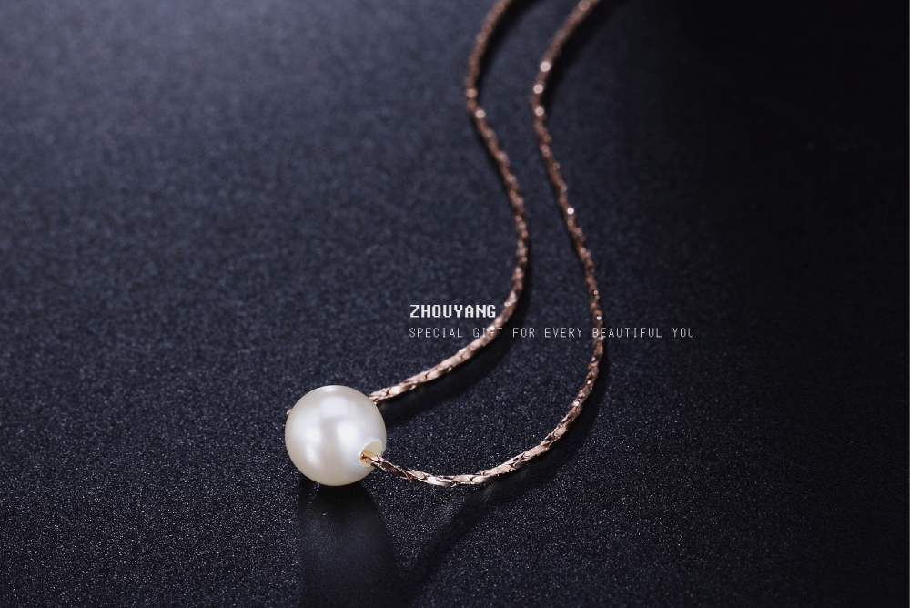 HTB1hqJvQXXXXXXzXVXXq6xXFXXXW - FREE SHIPPING Imitation Peal Necklace Rose Gold JKP237