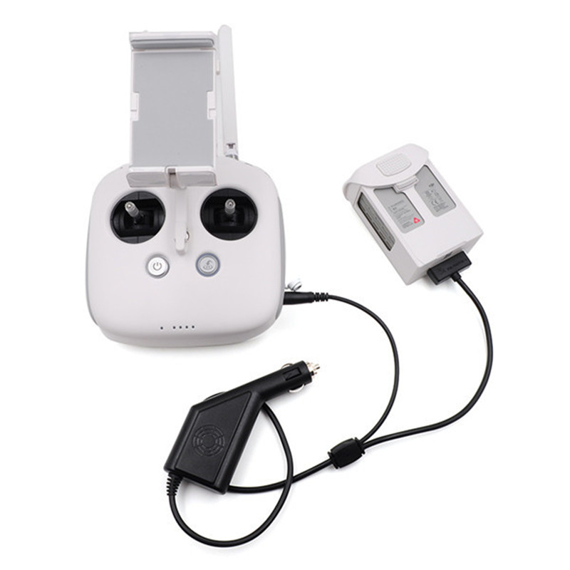 Newest Car Charger 17.5V 4A Battery And Transmitter Outdoor Charger For DJI Phantom 4 Battery For RC Quadcopter Spare Parts