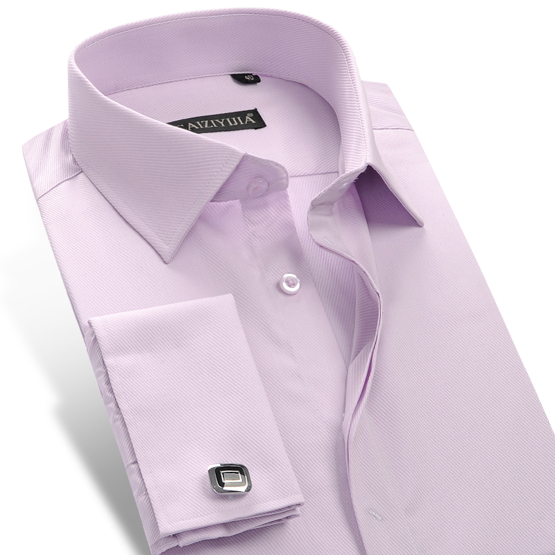 Popular men 39 s dress shirt french cuff buy cheap men 39 s for French cuff shirts cheap