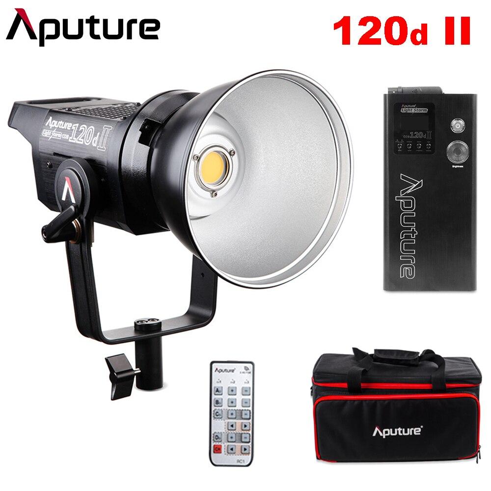 Aputure COB 120D Mark 2 120D II Ultimative Upgrade 30,000 Lux @ 0,5 mt Unterstützt DMX 5 CRI96 + TLCI97 + Pre-Programmiert Beleuchtung Effekte