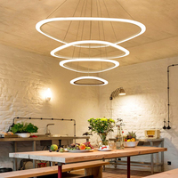 Atmosphere led restaurant dining room modern minimalist bar creative Nordic office chandeliers living room clothing store light