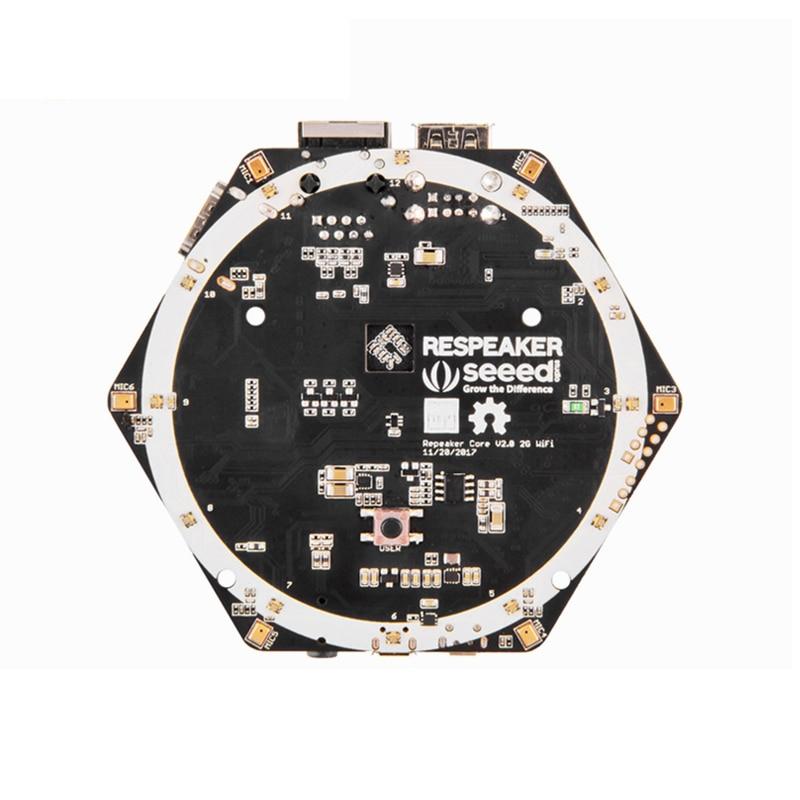 Respeaker Core v2 0 Intelligent Speech Recognition ARM Quad Core Cortex A7 6 Microphone Array for
