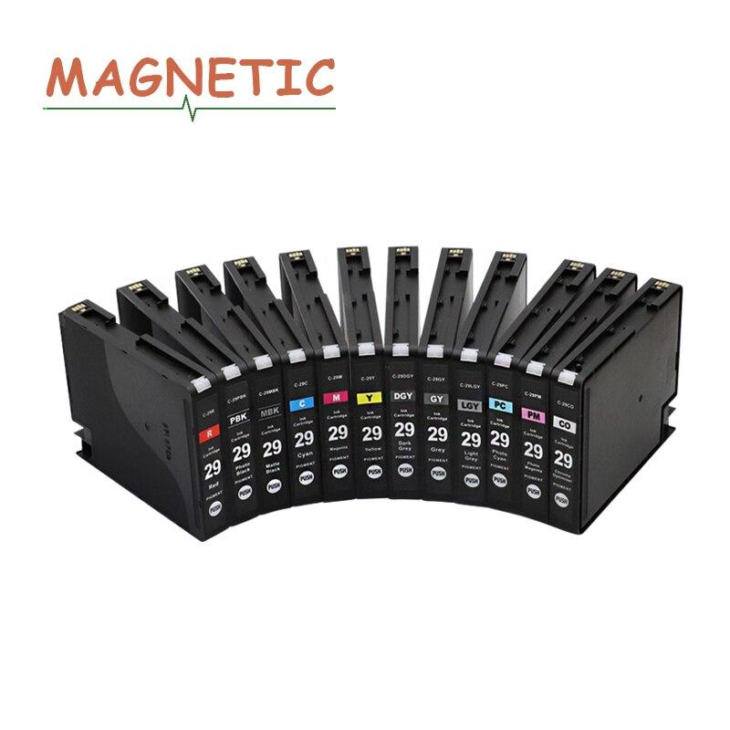 PGI29 PGI 29 чернильный картридж 12 цветов для Canon PIXMAPRO-1 принтер PGI-29 пигментные полные чернила с чипом