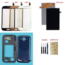 For Samsung Grand Neo i9060 GT-i9060 i9062 Touch Digitizer Sensor + LCD Display Screen + Housing bezel Frame+ Back Battery Cover цена в Москве и Питере