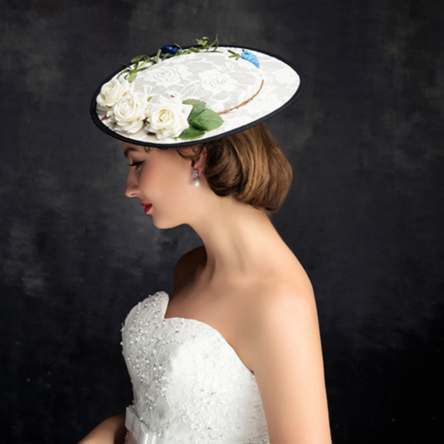 Hand Made Flower Fascinator Fashion Headwear Women Cocktail Wedding Party  Church Beautiful Top Hat Ladies Dress Sinamay Hats 9537ba112a7