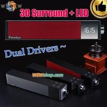 Роскошные 2×8 W Мощный 3D Bluetooth Динамик С LED 360 DSP Звук Беспроводной Спикер Lound Sound Box Поддержка TF Карт Aux