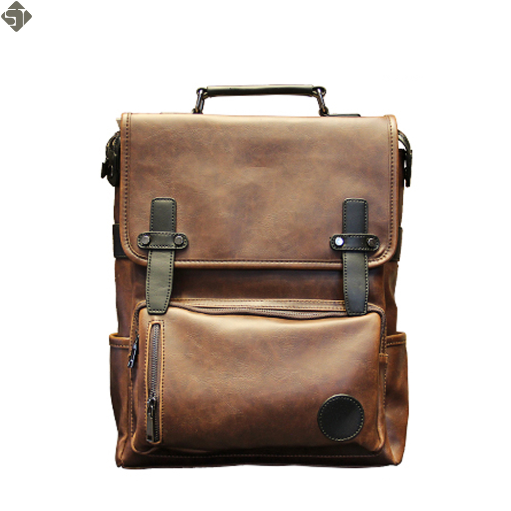 Baijiawei men pu patent leather backpacks men s fashion backpack c52da8d452d4a