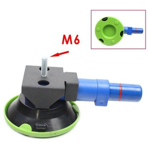 """Image 1 - 3"""" Concave Vacuum Cup 75mm Heavy Duty Hand Pump Suction Cup with M6 Threaded Stud"""