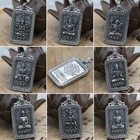 NEW! 100% 925 Silver Buddha Statue Pendant Thai Sterling Silver Buddha Pendant the Chinese Zodiac years Buddha Amulet Pendant