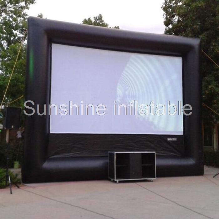Prodaje se filmski zaslon na napuhavanje s otvorenim projektilima na otvorenom na otvorenom, na otvorenom