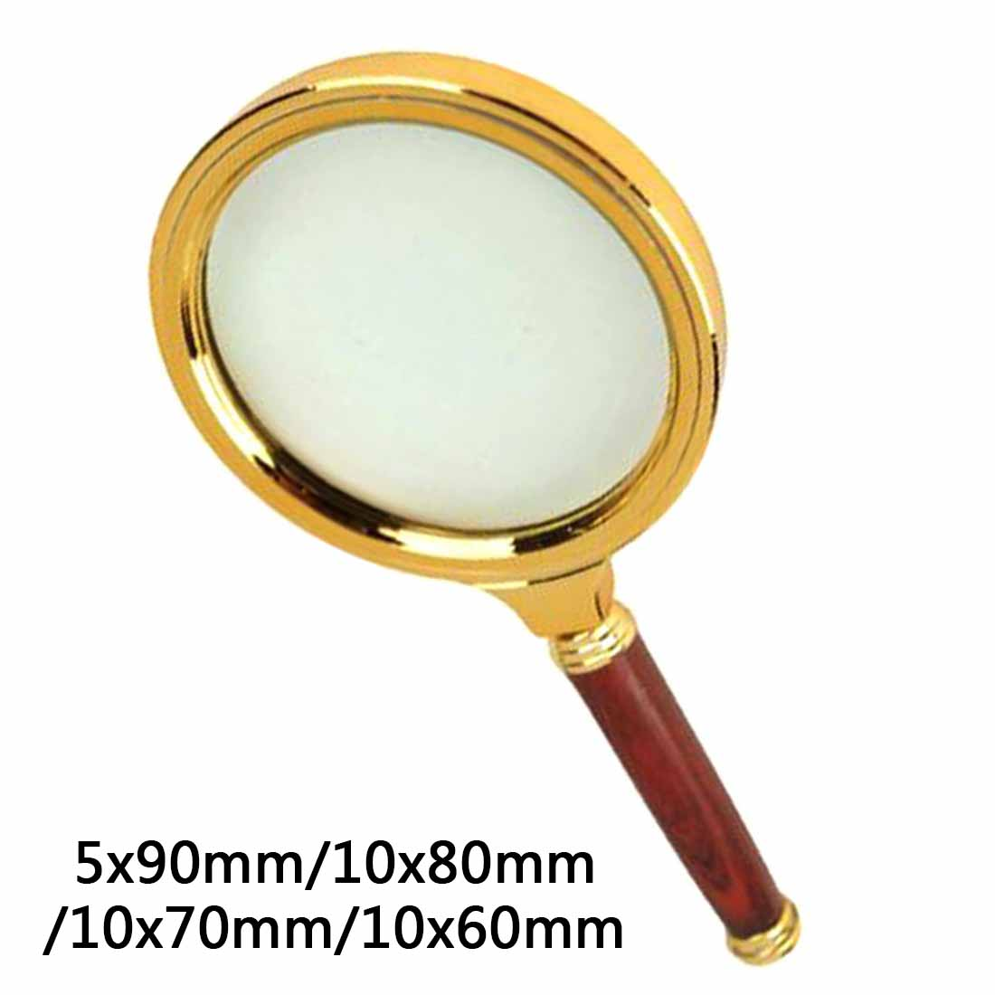 90mm/80mm/70mm/60mm Handheld 5X/10X Magnifier Magnifying Glass Loupe Reading Jewelry Eye Loupe Magnifier Repair Tool 10x magnifying glass 60mm portable handheld magnifier for jewelry newspaper book reading high definition eye loupe glass