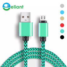 ElANT Micro USB Cable Braid Metal Plug Data Sync & Charging Cables 1M/2m/0.3m for Android Mobile Phone Samsung Xiaomi Huawei HTC
