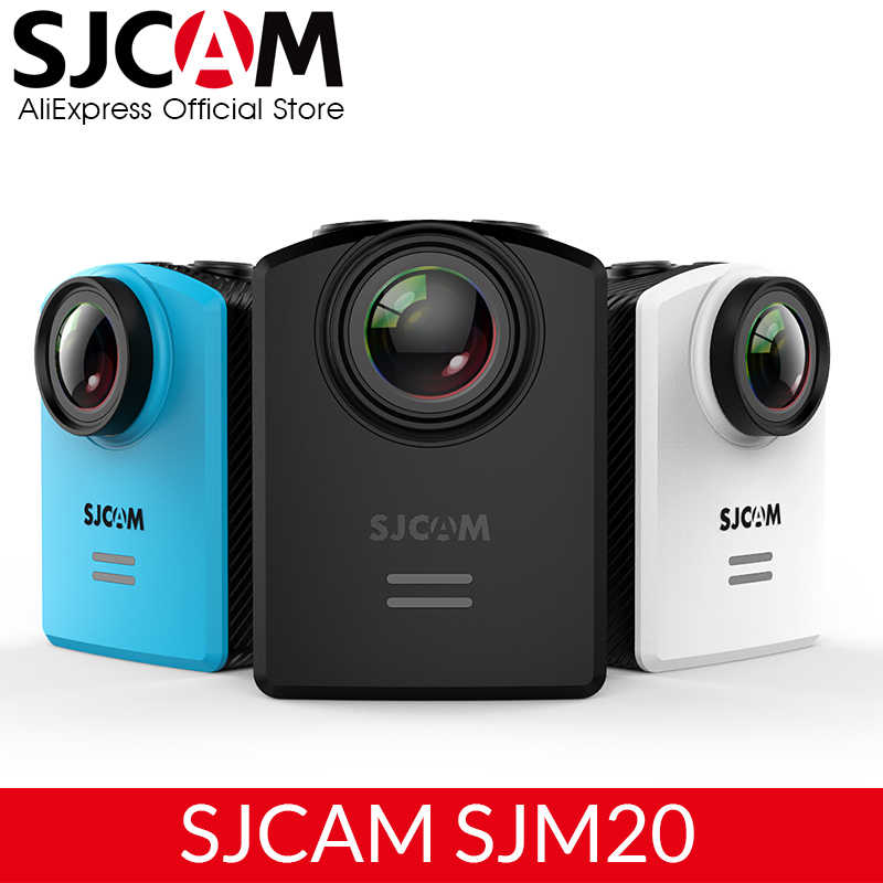 Asli SJCAM M20 Gyro Mini Action Helm Olahraga DV Kamera Tahan Air 4 K 24fps 2 K 30fps NTK96660 16MP dengan format RAW