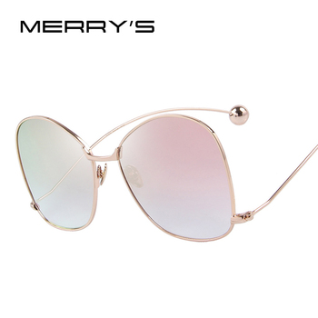 MERRY'S Women Personality Exaggerated Sunglasses Clear Lens Women Glasses UV400 Protection S'8066 Women's Glasses