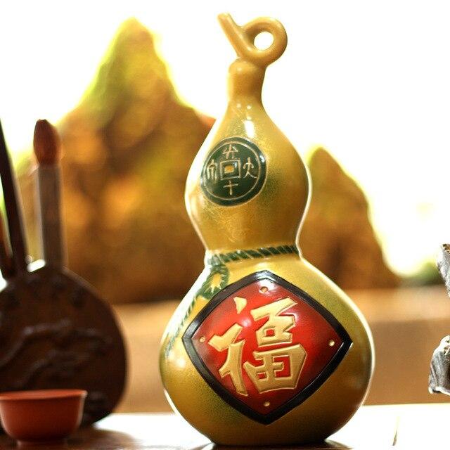 Feng Shui Dekoration keramik handwerk kürbis flaschen feng shui ornamente segen