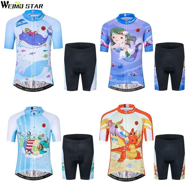 027f19b6f Kids Cycling Jersey Pro Team Children Boy Girl Cute Cartoon cycling clothing  maillot ciclismo Bike Jerseys Sport ycling set