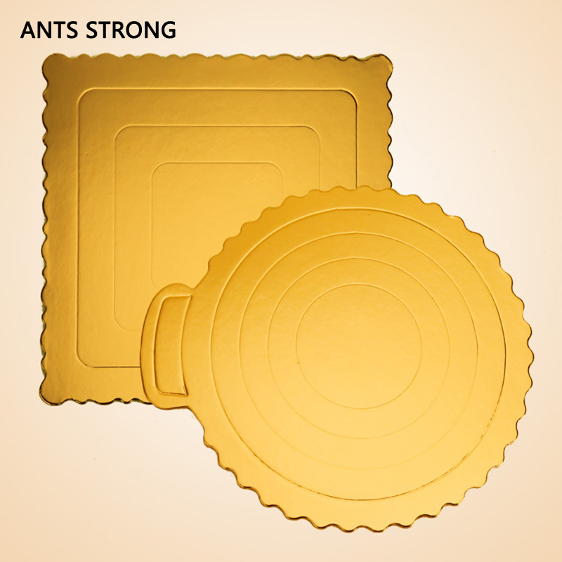 ANTS STRONG 8-inch thicken paper cake mat/Lace design golden cake hard paper pad bake tool birthday cake adgets