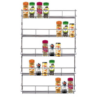 1 Pc 5 6 Layers Iron Spice Rack Storage Wall Rack Kitchen Tools Holder High Quality