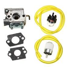 Carburetor Assembly Gaskets Primer Bulb Fuel Filter For Walbro WT-682-1 WT-682 MTD 753-04408